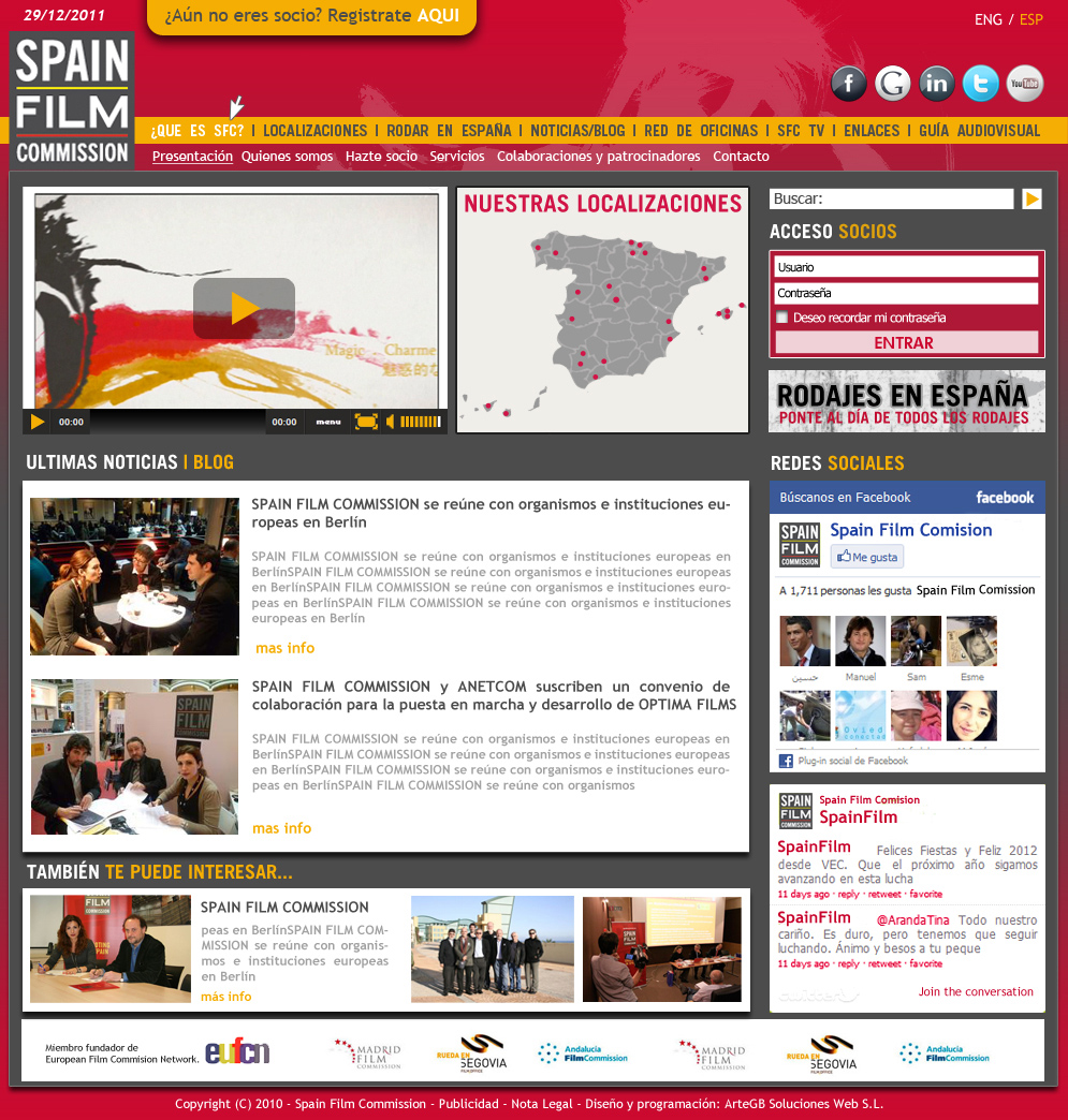 Web Spain Film Commission
