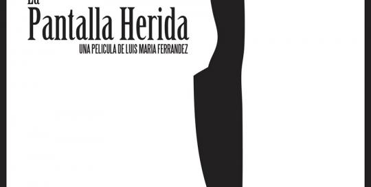 Cartel ilustrado La Pantalla Herida