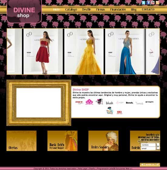 Web Divine Shop