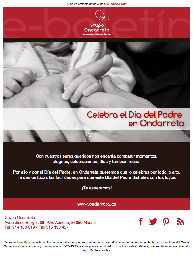 Newsletter Grupo Ondarreta