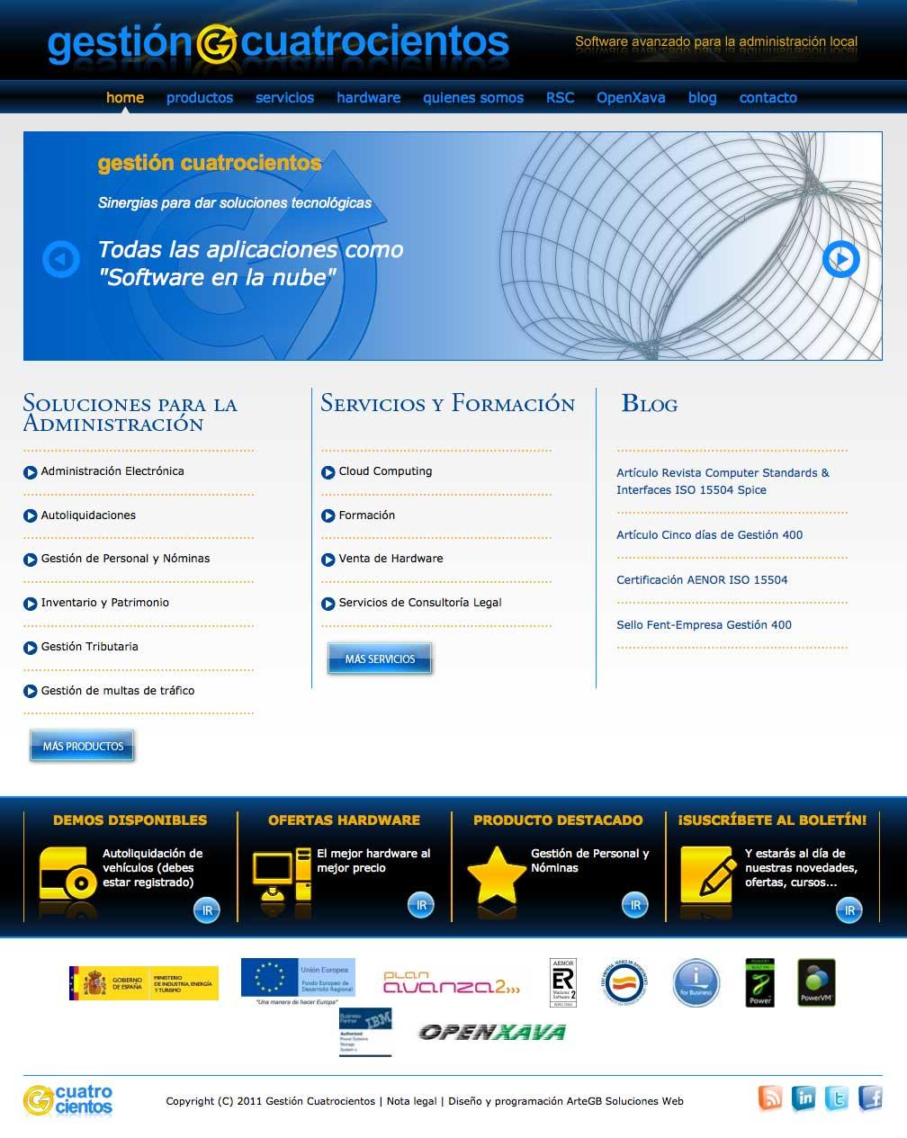 Web Gestión 400