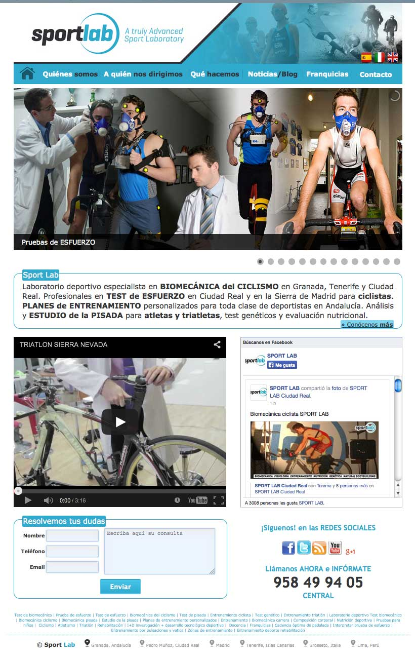 Web Corporativa Sportlab