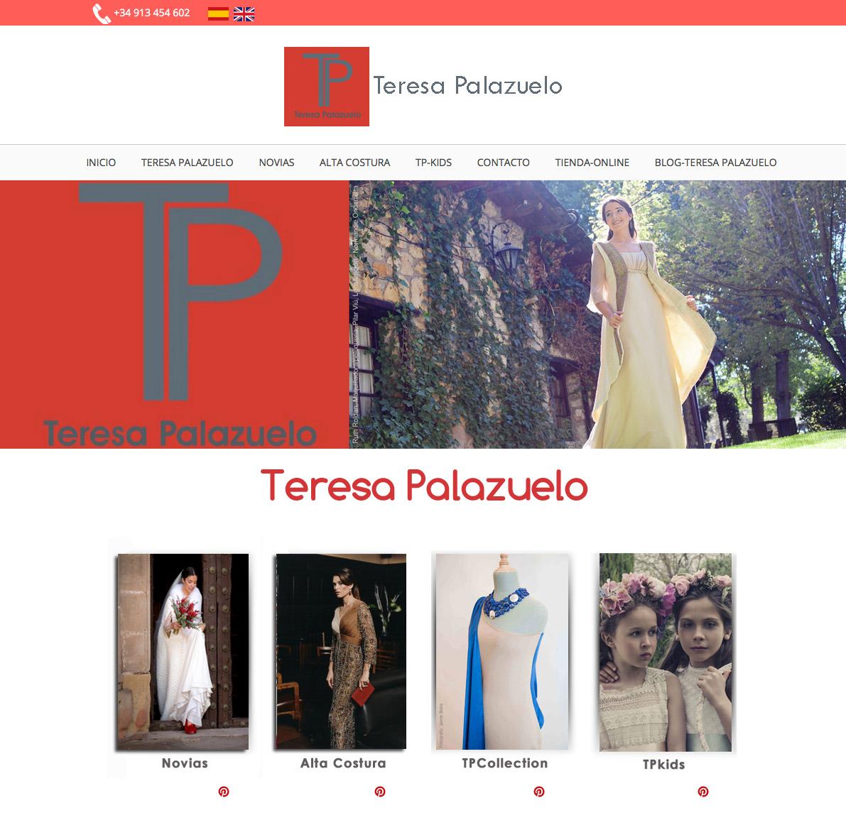 Web Corporativa Teresa Palazuelo