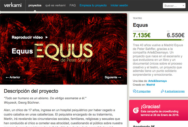 Crowdfunding Equus