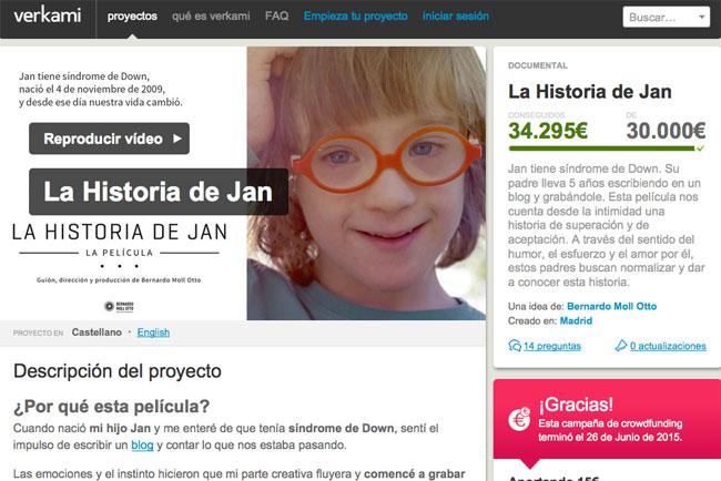 Crowdfunding La historia de Jan